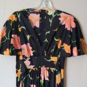 Vintage maxi dress floral size small